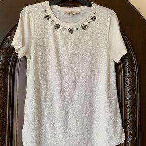 LOFT Sequined Shirt